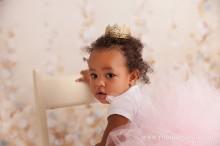 baby girl in a big pink tutu