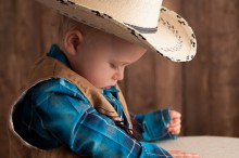 calgary baby dressed up as a cowboy