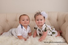 8 month old twin boy and girl