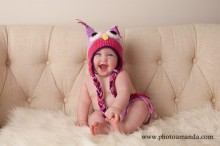 adorable 6 month baby dressed up as an owl