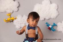little boy airplane cake smash