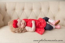 baby girl with cowboy boots on sleeping